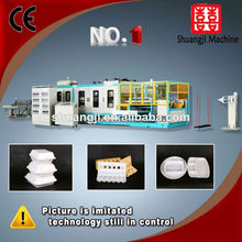 Hot melting eps foam disposable food box machine