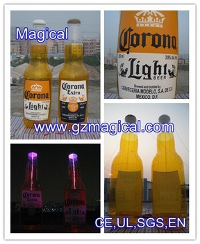 Lighting Inflatable beer bottle model