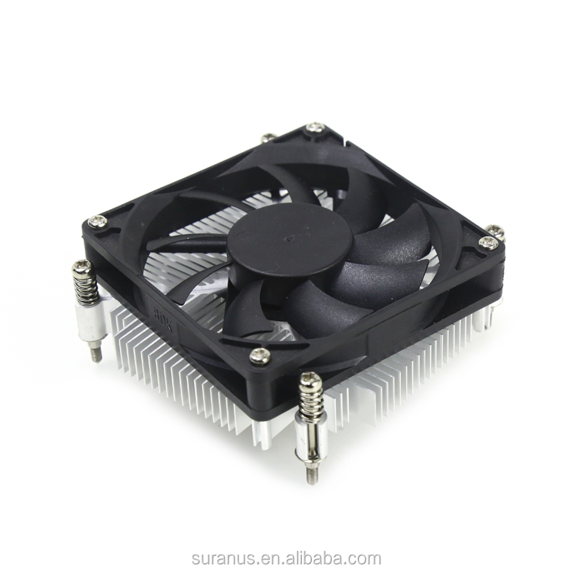 SU-T200 Intel Socket Aluminum sink Supper Mini 12V DC CPU cooler Fan