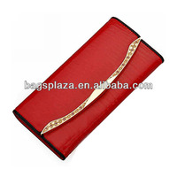 WA6022 Designer ladies wallets and purses rhinestone purses red PU blank lady wallet