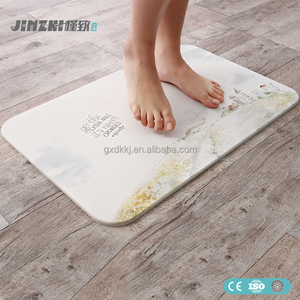 2018 natural diatomaceous earth custom size bath mat diatomite bath mat for kids