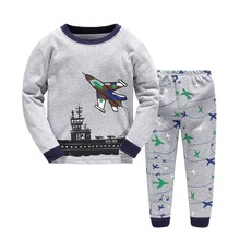 S15859A Childrens pajamas wholesale underwear for boys cartoon cotton sleepwear