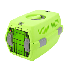 Dog Portable Carrying Suitcase Plastic Pet Cage With Buckle