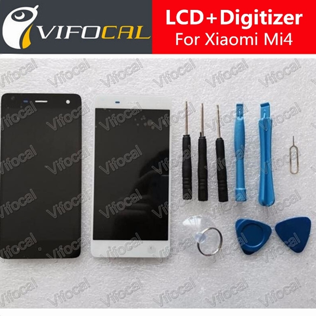 For Xiaomi Mi4 LCD Display + Touch Screen + Tools Set 100% New Assembly Replacement For M4 Mobile Phone +