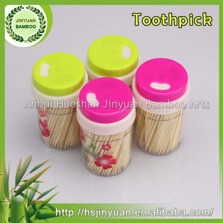 Party/wedding/decoration use disposable bamboo toothpicks with custom box packed