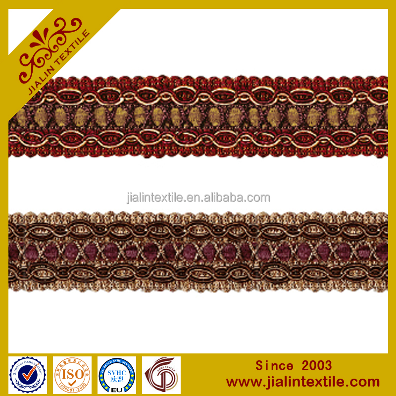 Polyester chainette curtain decorative trim lace