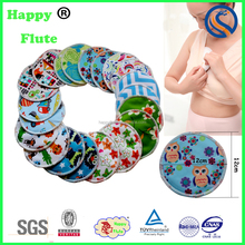 Happyflute 100% Organic Bamboo Nursing Pads Reusable Soft Milk Breast Pads
