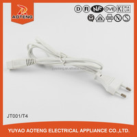 VDE approved ac power cord for TV.ho3vvh2-f 2x0.5mm2 line.european standard ac power cord.electric shaver power cord