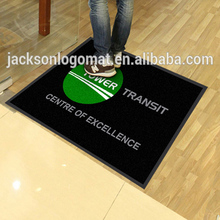 custom door entrance welcome logo mat with natural rubber mat