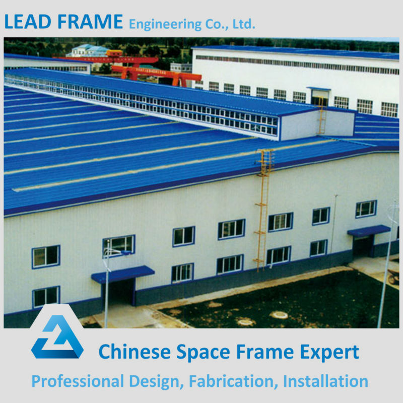 Prefabricated Space Frame Metal Shed Steel Structure Factory Building