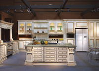 South Korea exported Pressed solid wood kitchen cabinet