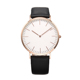 Factory OEM genuine leather minimalist quartz wrist man watch
