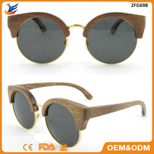 wholesale Unique handcrafted popular black walnut layered wooden sunglasses factory direct sale