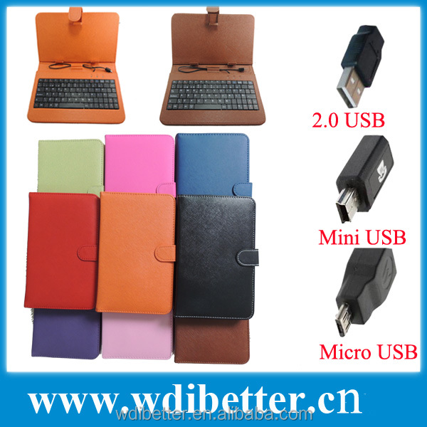 7 inch Universal Tablet Keyboard Cover Case For Le Pan Tablet Keyboard