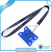 fashional durable id card holder lanyard for corporation staff wholesale