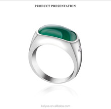 Professional Quite distinctive 925 sterling silver green gemstone calendar rings