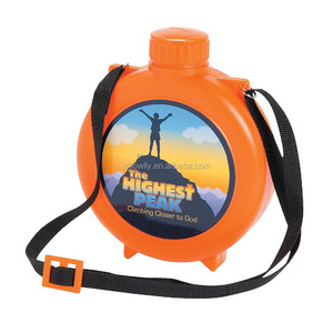 12 oz. 350ml Innovative Promotional Customized Cheap Reusable Plastic Highest Peak Water Drinking Canteens Wholesale