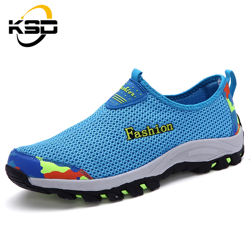 Manufaturer lowest price summer running sport shoes for men Rubber outsole soft popular shoes