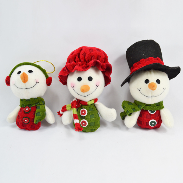china factory cheap snowman singing plush keychain toy