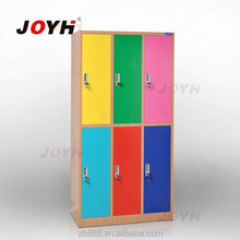 Biggest swimming pool locker lock KD colorful double tiers 3-wide beach locker