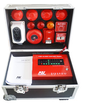 Conventional fire alarm system show case for sample evaluation