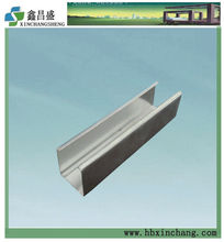 Metal vertical channel stud and track drywall partition
