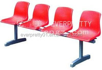 High Quality Plastic Waiting Chair Bench for 4 People
