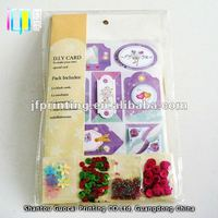Competitive price colorful bead embellishments 3d handmade gift greeting card educational toys
