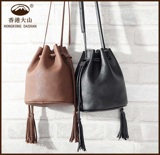 ASZ03-<strong>1</strong> Fashion Cheap Drawstring <strong>Leather</strong> Lady Shoulder Bucket Bag