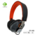 3.5mm plug stereo sound adjustable leather headband headset noise reduction wired on ear headphone