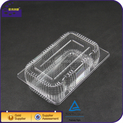 Wholesale Food Grade Clear BOPS Plastic Blister Container Clamshell / Fruit And Cake Packaging Box