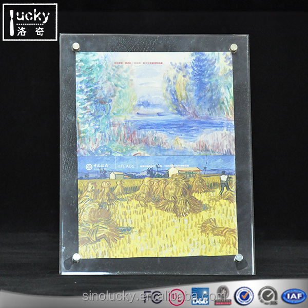 2 set Paper Size A4 Acrylic Painting Frame Self-standing Desk Frame Advertisement holder(2 pack one set)
