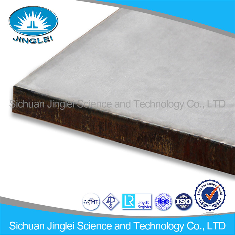 Abrasion Resistance Explosive bond 410S stainless steel cladding steel plate