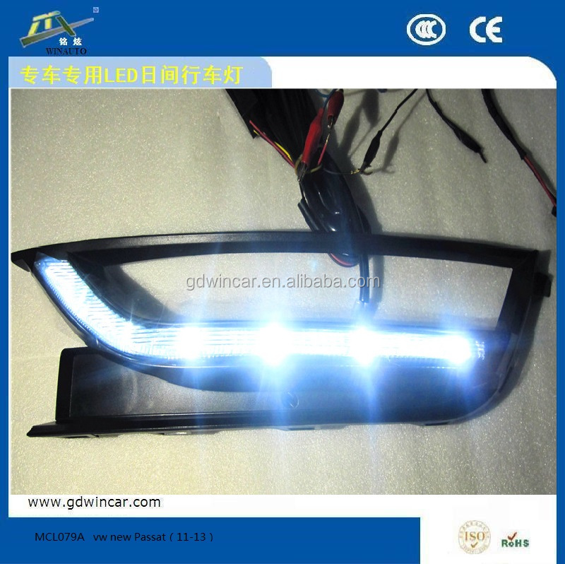 High quality led special Daytime Running Light special for vw new Passat(11-13) DRL <strong>used</strong> and damaged <strong>motorcycles</strong>/led car light