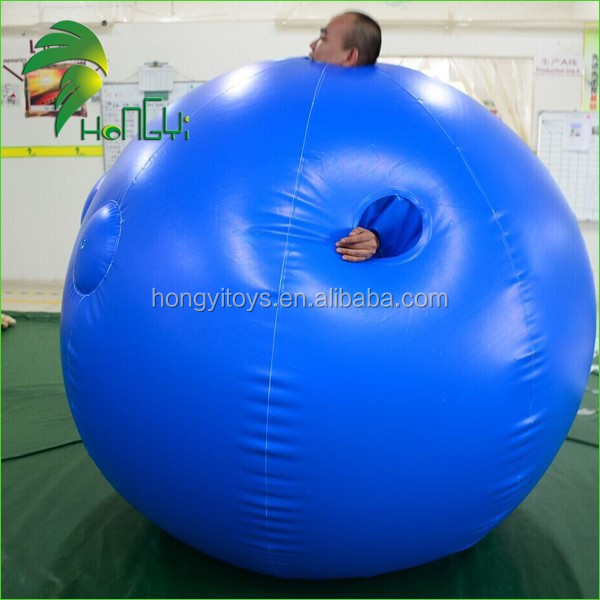 Hongyi High Quality Customized Body Inflatable Ball Suit, Cheap PVC Inflatable Costume For Adult