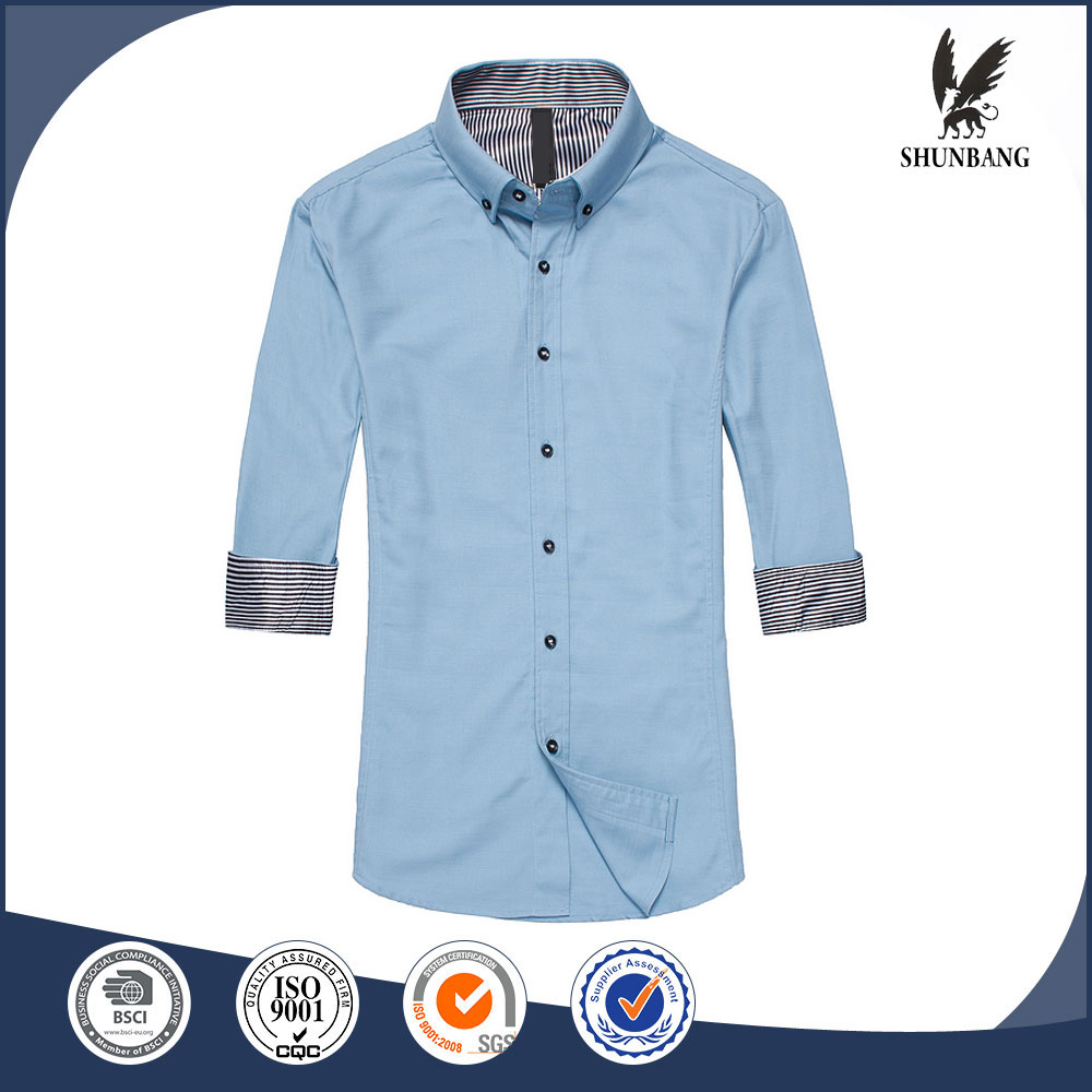 Anti-Wrinkle half sleeve man shirt sexy party wear shirts for men