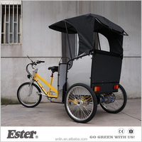 Bike Taxi ESTER rear Electric Pedicab with Pedal Sensor