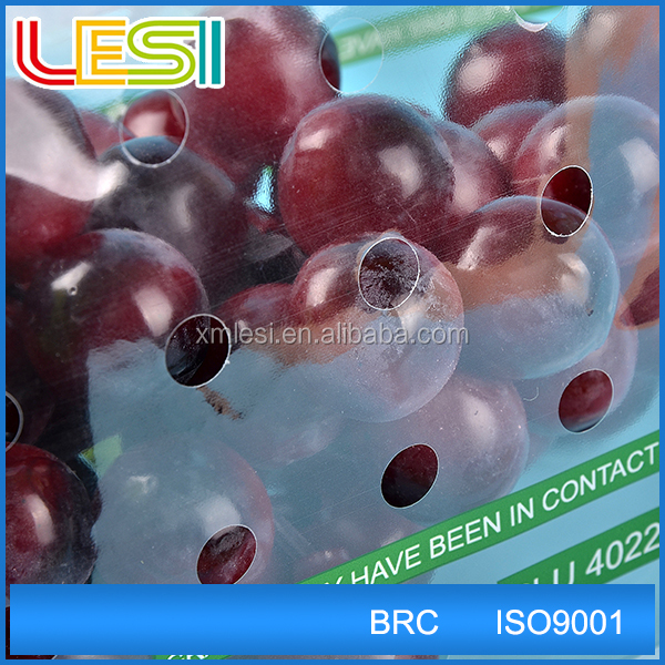 Custom made design punch hole grape cherry fruit protection bag with printing logo best price wholesale