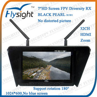 "D791 7"" LCD FPV Monitor and 5.8G Wireless AV Receiver Built-in Battery for RC Electric Glider"