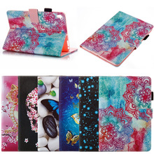 2017 New Selling 3D Colorful Pattern Flip Leather Case for iPad Mini 5