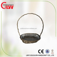 1 pc full wicker flower basket with water proof liner, Basket Wholesale,handmade arts and crafts