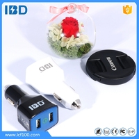 Fast 9V 2A Dual Port Quick Charge 3.0 Car USB Charger for Cell Phone
