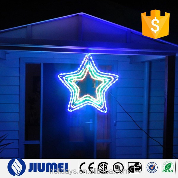 Motif Christmas Decoration 4 Layer Star LED Outdoor Light