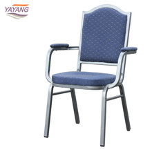 metal restaurant banquet chair with armrest and high destiny sponge