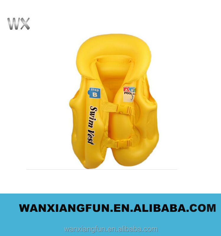 Wholesals Promotional Water floating inflatable life vest for children and adult