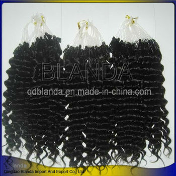 peruvian hair afro curly Micro Ring Hair Extensions
