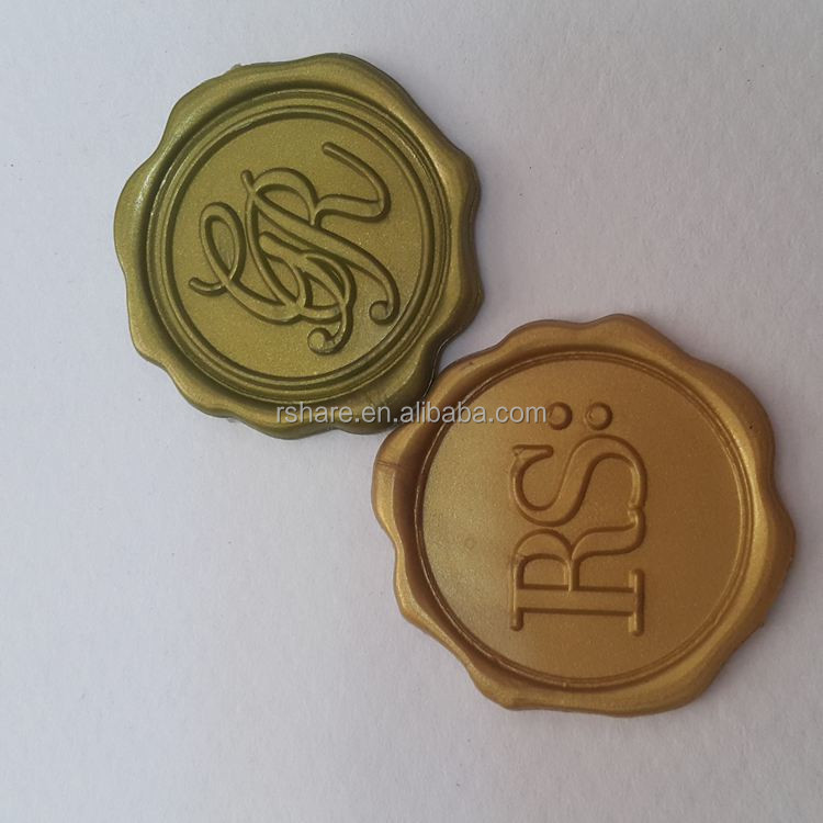 2017 Gold Sealing Wax Sticker for Envelope Stamp Letter Card Seals