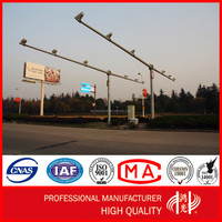 Q235 Traffic Telescopic cctv Camera Mast Steel Pole Post Control Rod