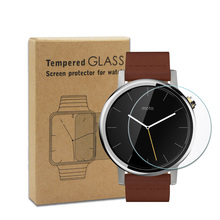 For motorola moto 360 touch glass screen protector for smart watch accessory sample free