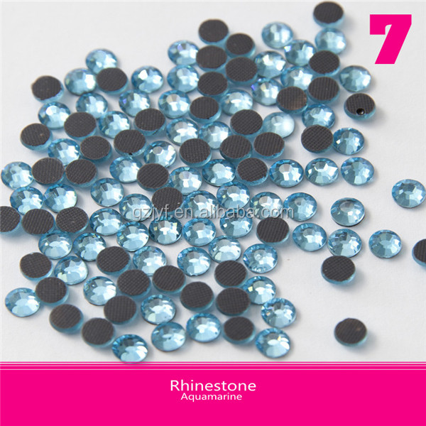 Jewelry Motif Ss16 Hot-Fix Rhinestone Aquamarine Glass Material, DMC Rhinesone with Low Price High Quality